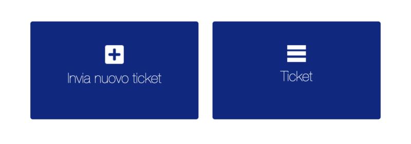 invia ticket e consulta richieste