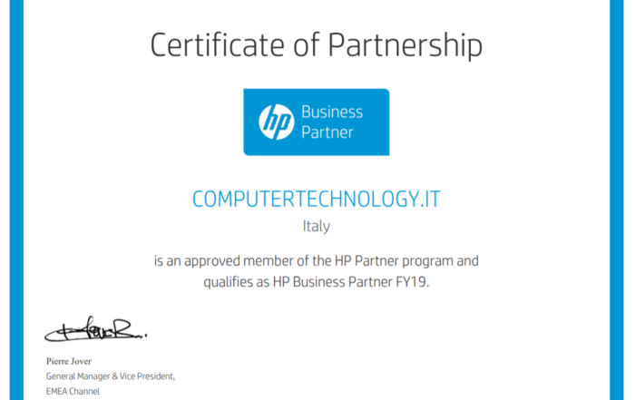 hp business partner 2019 certificate